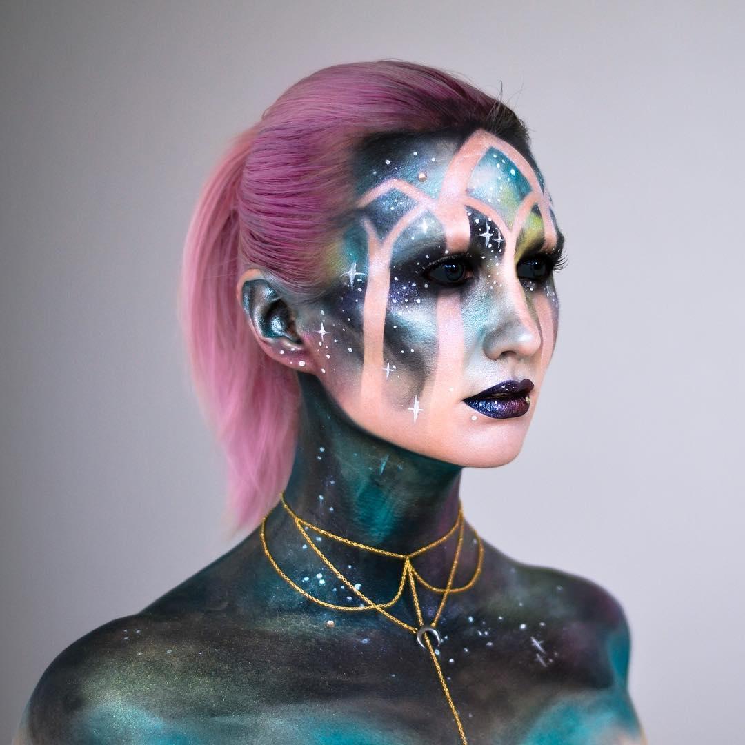 El maquillaje de Halloween más original llega con tintes galácticos