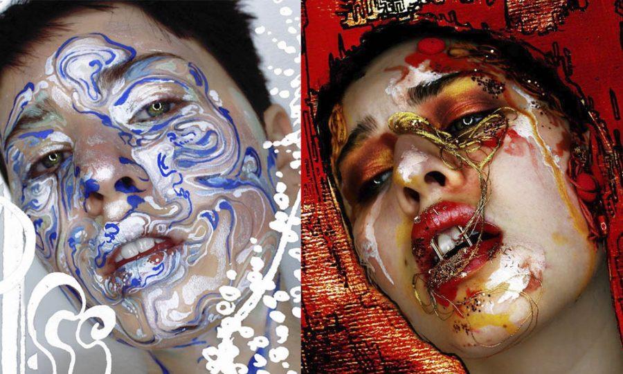 Evelyn Affleck transforma el maquillaje en verdaderas obras de arte