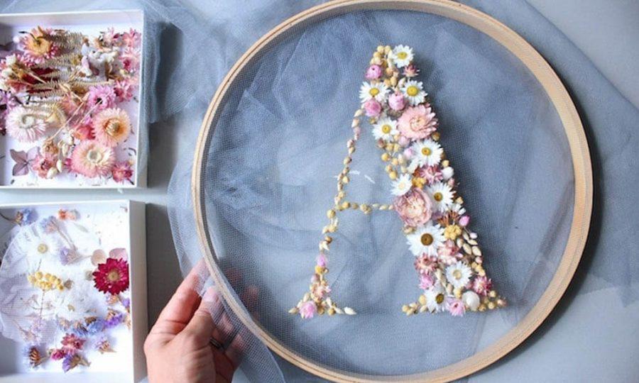 El arte de bordar con flores naturales de Olga Prinku
